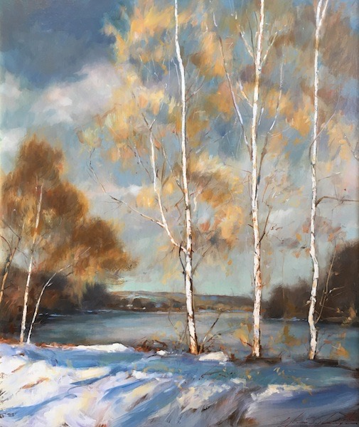 THREE SYCAMORES by Glenn Harrington - 24 x 20 in., o/l • $8,500