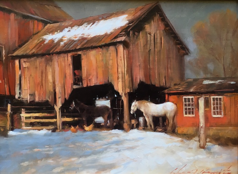 DARKHOLLOW BARN by Glenn Harrington - 9 x 12 in., o/l • SOLD