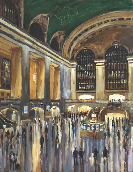 GRAND CENTRAL EVE by Jennifer Hansen Rolli - 28 x 22 in., o/c • SOLD