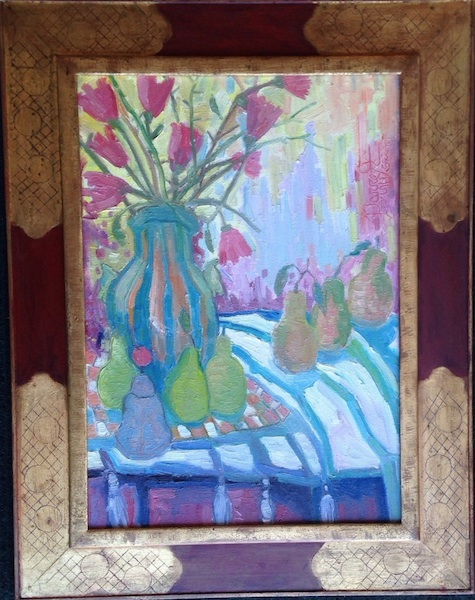 STILL LIFE WITH CHINESE BELL (framed) by Joseph Barrett - 24 x 17, o/c $5,300