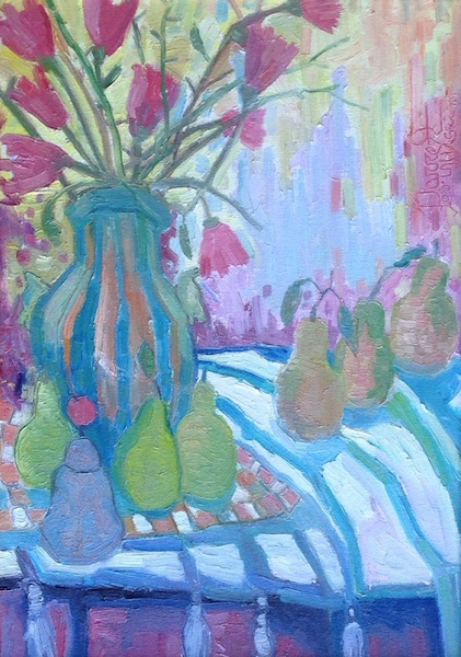 STILL LIFE WITH CHINESE BELL by Joseph Barrett - 24 x 17, o/c $5,300