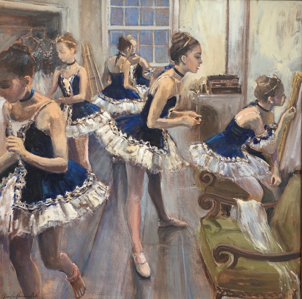 YOUNG DANCERS by Jennifer Hansen Rolli - 20 x 20 in., o/c • SOLD