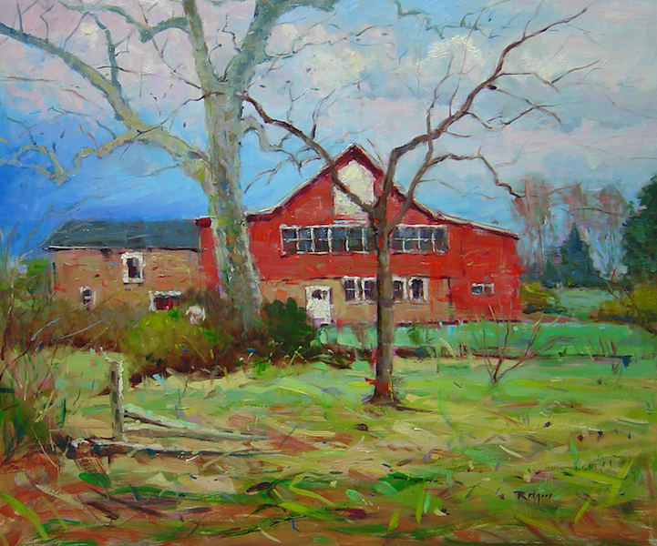 LATE MARCH, PINEVILLE by Jim Rodgers - 20 x 24 in., ob • $4,700