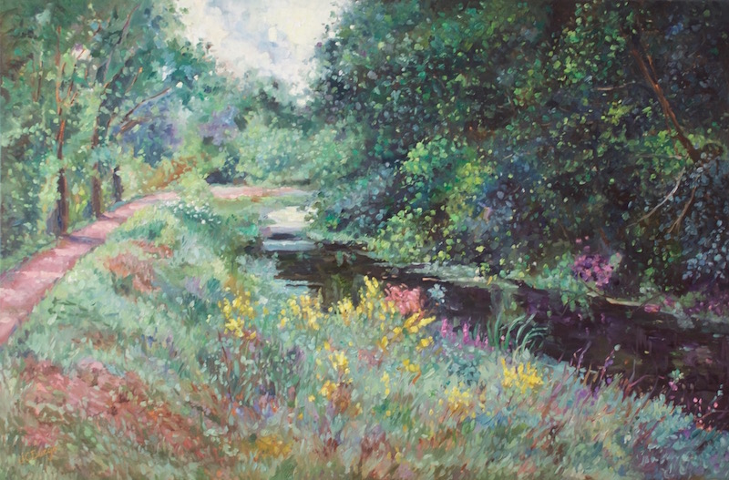 CANAL BLISS by Jean Childs Buzgo - 24 x 36 in, o/c • $4,800
