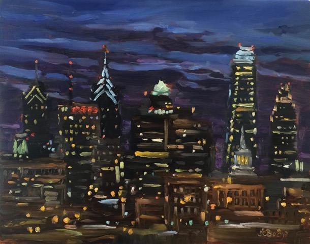 PHILADELPHIA FREEDOM by Jean Childs Buzgo - 11 x 14 in, o/b • SOLD
