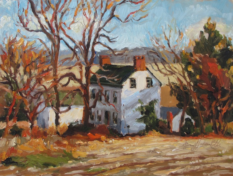 AUTUMN OVERLOOK by Jennifer Hansen Rolli - 9 x 12 in., o/c • SOLD