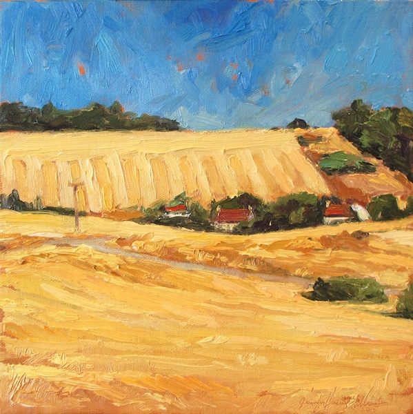 TRAIN FROM AVIGNON by Jennifer Hansen Rolli - 10 x 10 in., o/c • $2,300