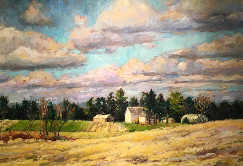 NOVEMBER FARM by Jennifer Hansen Rolli - 30 x 40 in., o/c • $7,200