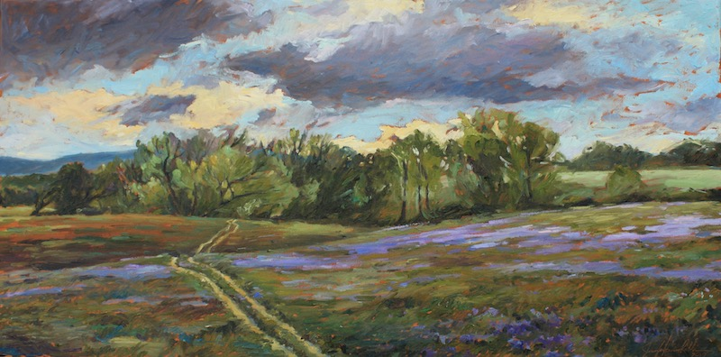AMETHYST SHADOWS by Jennifer Hansen Rolli - 18 x 36 in., o/c • $4,800