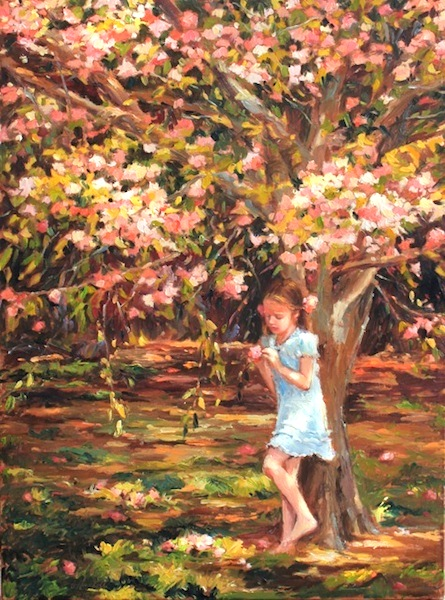 BLOSSOM by Jennifer Hansen Rolli - 24 x 18 in., o/c • SOLD