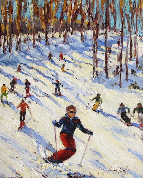 DOWNHILL SHADOWS by Jennifer Hansen Rolli - 10 x 8 in., o/c • $1,500