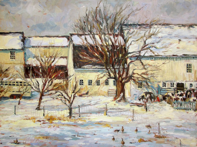 LAVENDER SNOWDAY by Jennifer Hansen Rolli - 18 x 24 in., o/c • $4,800