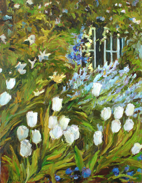 SPRING GARDEN by Jennifer Hansen Rolli - 20 x 16 in., o/c • SOLD