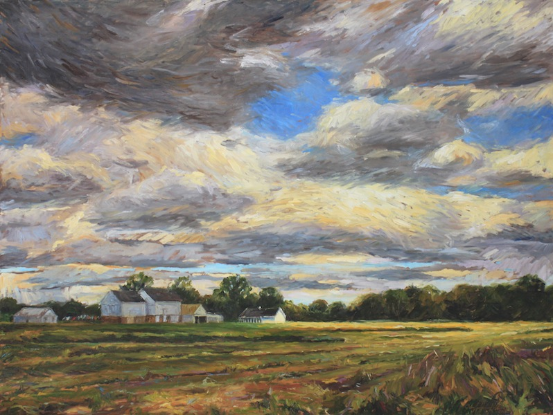 SUMMER FIELDS by Jennifer Hansen Rolli - 30 x 40 in., o/c • SOLD