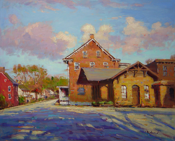 EVENING SHADOW, STOCKTON by Jim Rodgers - 20 x 24 in., o/b • $4,700