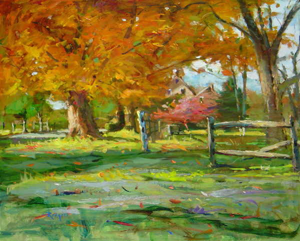 LATE OCTOBER, BUCKS COUNTY by Jim Rodgers - 16 x 20 in., o/b • $3,700