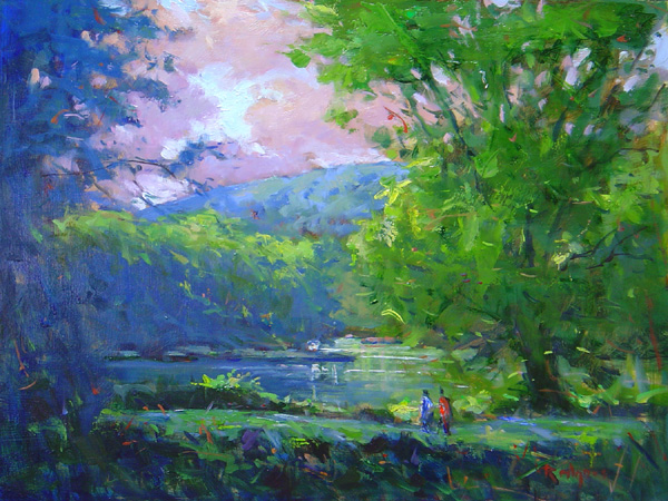 MORNING IN RIEGELSVILLE by Jim Rodgers - 12 x 16 in., o/b • $2,500