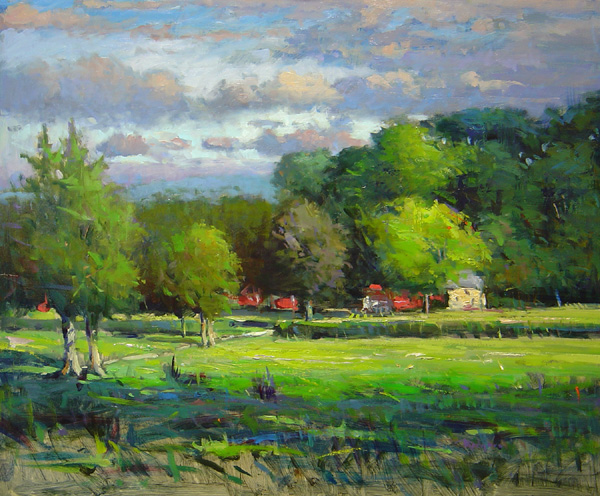 STONYBROOK FARM by Jim Rodgers - 20 x 24 in., o/b • $4,700