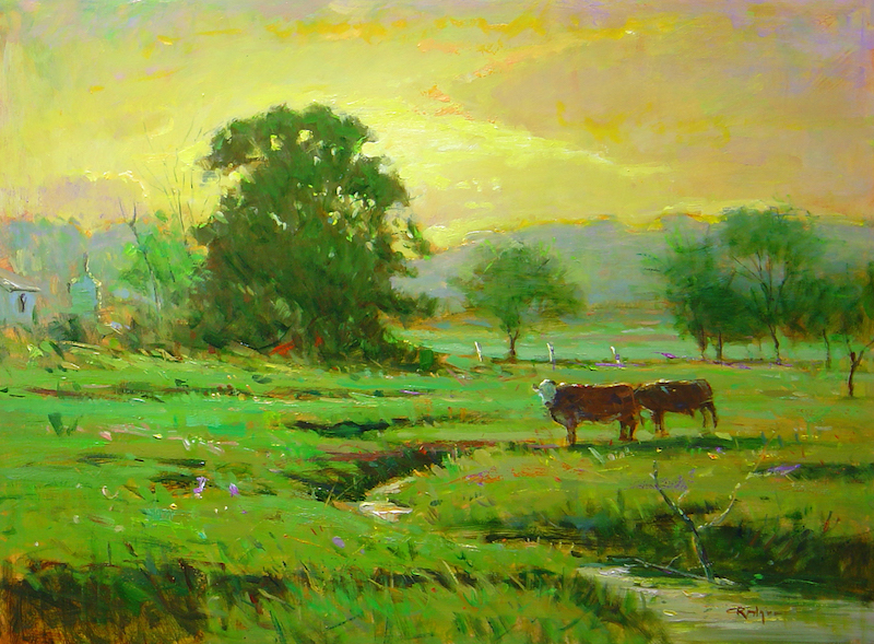 SULTRY SUMMER EVENING by Jim Rodgers - 18 x 24 in., o/b • $4,700