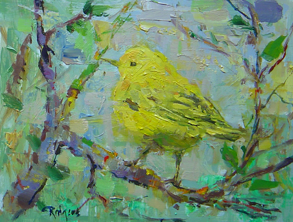 WARBLER by Jim Rodgers - 8 x 10 in., o/b • $1,400