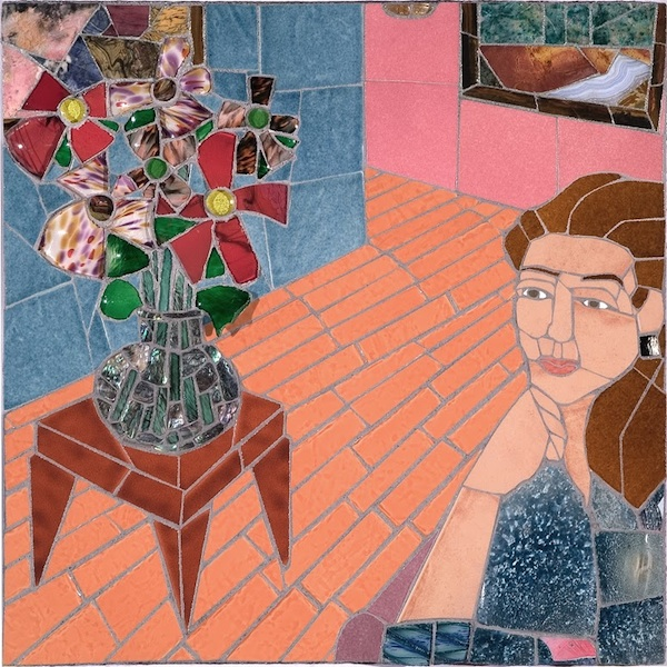 PLEASANT THOUGHTS by Jonathan Mandell - 24 x 24 x 2.5 wall mosaic • $3,000