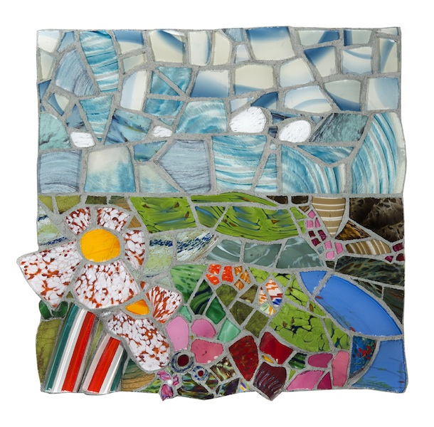 NATURE STUDY X by Jonathan Mandell - 25 x 26 x 3 in., wall mosaic • $3,500
