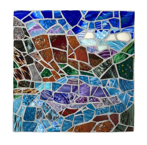BANFF by Jonathan Mandell - 24 x 24 x 3 wall mosaic • $3,500