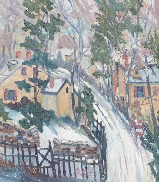SNOW DAY by Joseph Barrett - 32 x 28 in., o/c • SOLD