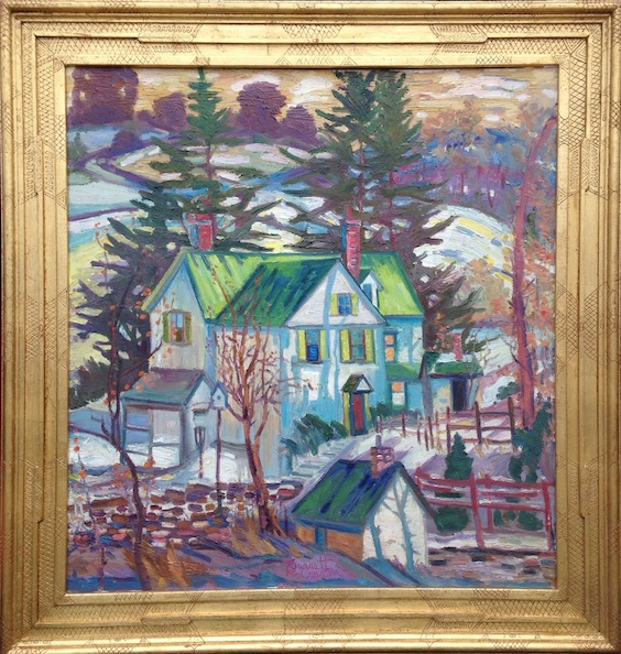NESHAMINY DAY (framed) by Joseph Barrett - 32 x 30 inches, o/c • $8,500