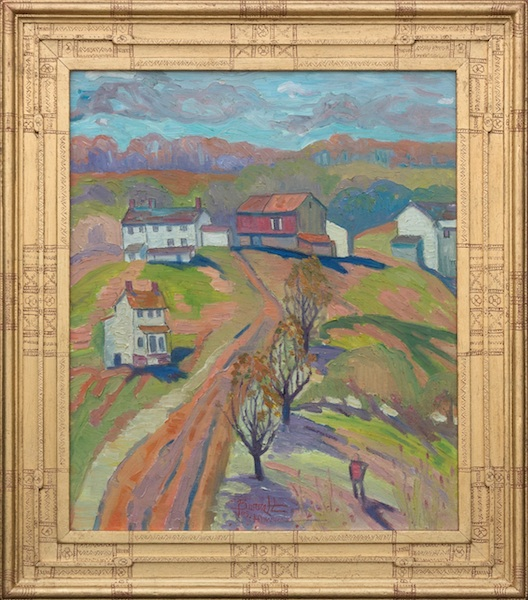 AUTUMN, OLD FARM  by Joseph Barrett - 26 x 22 in., o/c • $5,700