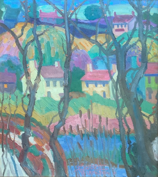 HOUSES: OLD CREEK by Joseph Barrett - 20 x 18 inches, o/c • $5,000
