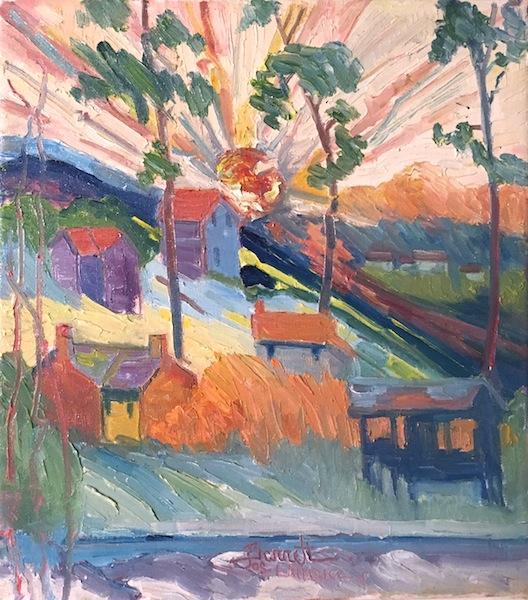 SUN RISE, LAHASKA by Joseph Barrett - 18 x 16 inches, o/c • $4,200