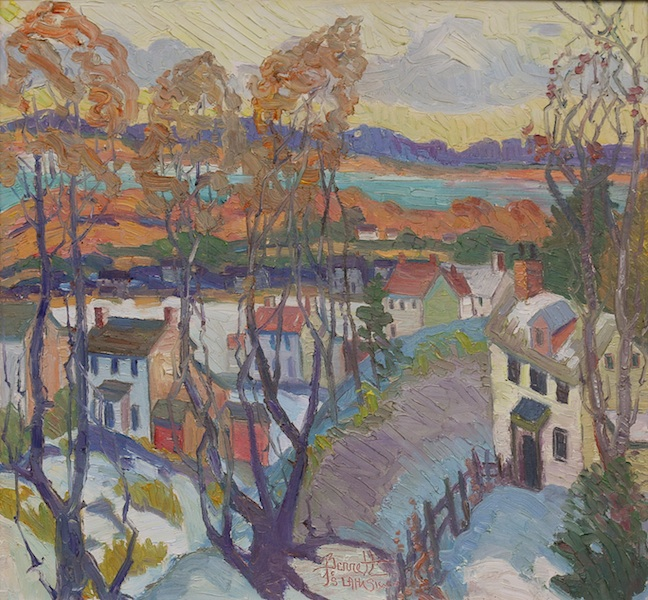 NEAR CENTRE BRIDGE by Joseph Barrett - 26 x 28 in., o/c • SOLD