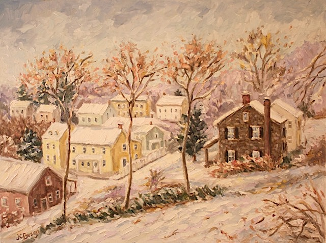 LAMBERTVILLE OVERLOOK VII by Jean Childs Buzgo - 18 x 24 in., o/c • $2,500
