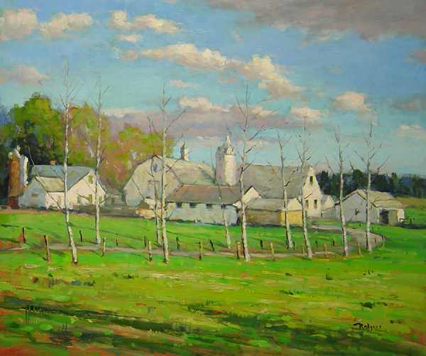 LAHASKA SPRING by Jim Rodgers - 16 x 20 in., o/b • $3,700