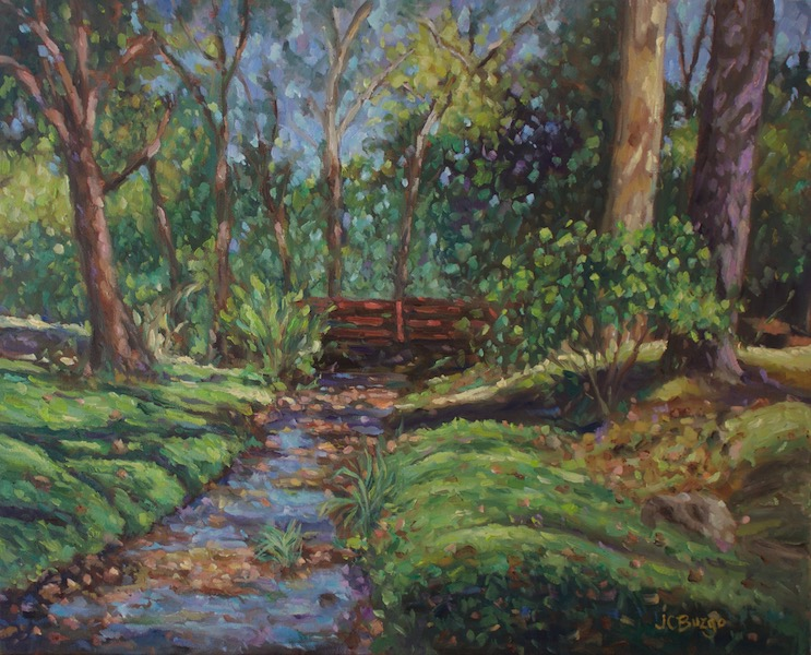 PHILLIPS MILL CREEK by Jean Childs Buzgo - 16 x 20 in., o/c • $2,000