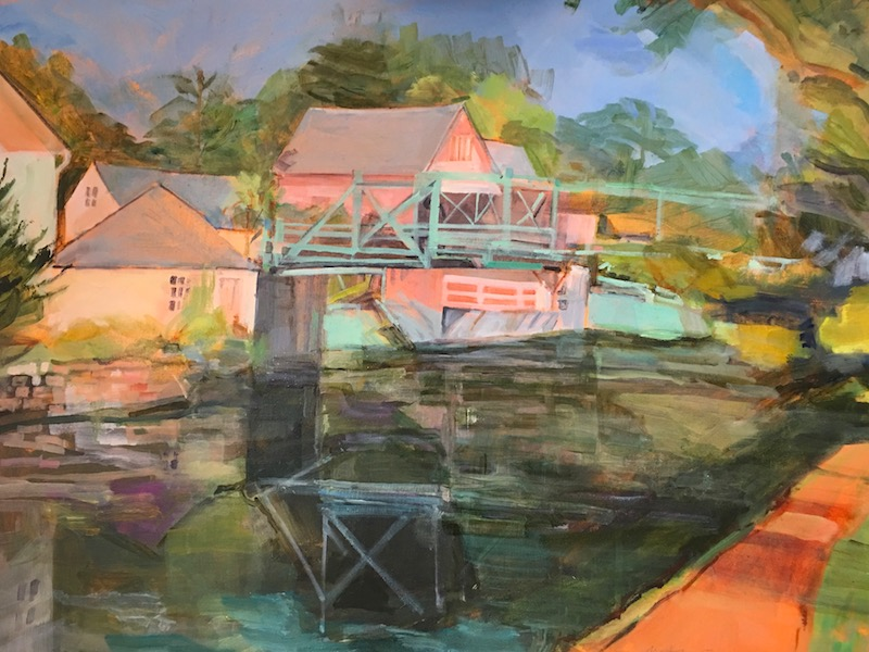 REFLECTIONS POINT PLEASANT by Anita Shrager - 24 x 30 in., o/c • $5,200