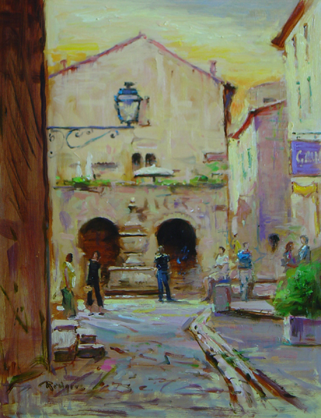 SAINT PAUL DE VENCE by Jim Rodgers - 14 x 11 in., ob • $2,300