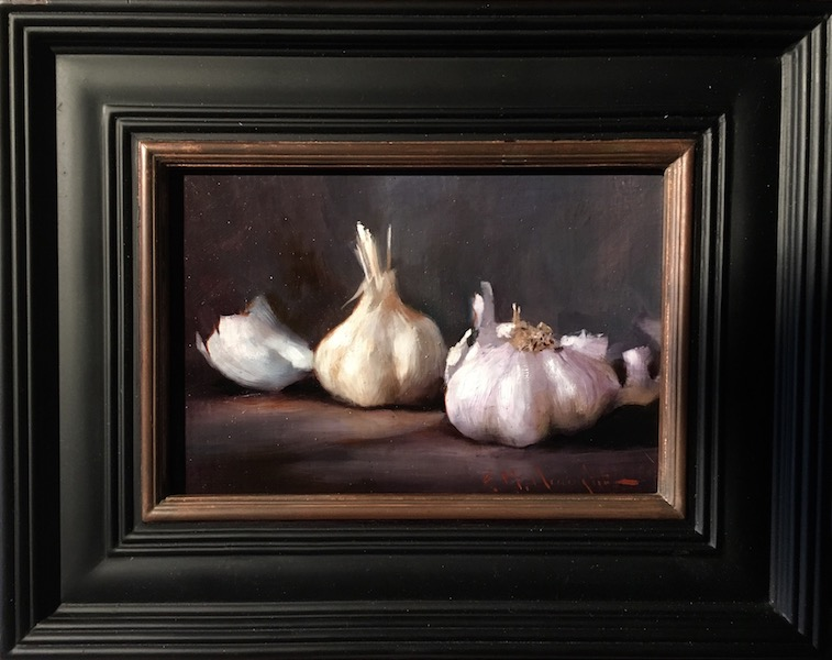 STUDY OF GARLIC by Evan Harrington - 6 x 9 in., o/lb • $1,200