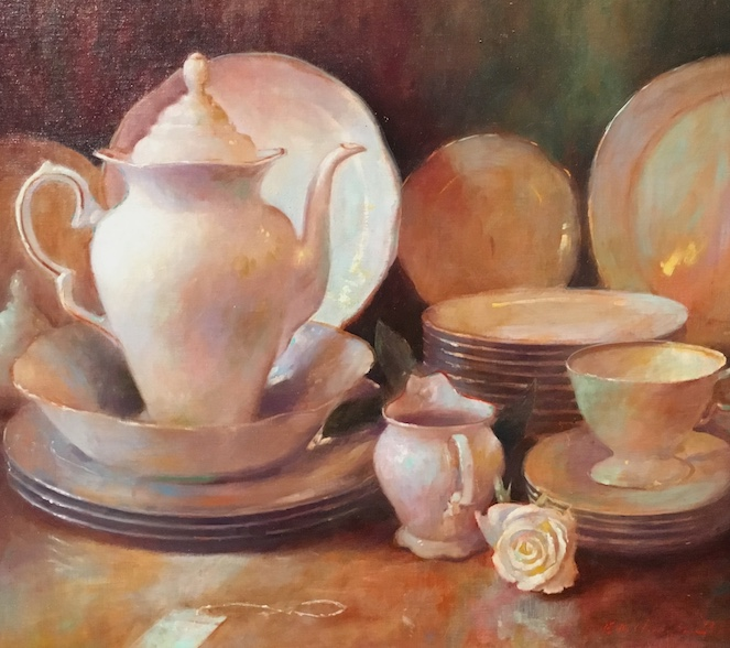 TEA by Evan Harrington - 18 x 20  in., o/l • $2,400