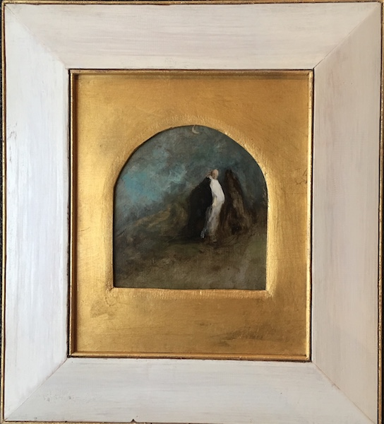 THE DREAM: NIGHT by David Stier - 7.5 x 7.25 in artist's handcrafted gilded frame • $2,000