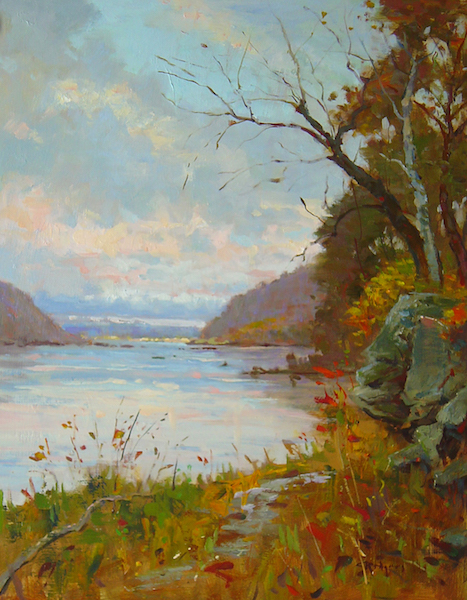 THE HILLS ABOVE HARRISBURG by Jim Rodgers - 20 x 16 in., o/b • $3,700