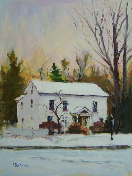 THE STILLNESS OF WINTER by Jim Rodgers - 16 x 12 in., o/b • $2,500
