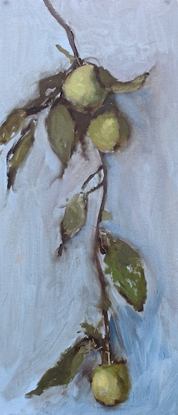 GREEN APPLES by David Stier - 23.5 x 10 in. • SOLD