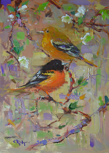 Our kind of tweet: BALTIMORE ORIOLES by Jim Rodgers - 16 x 12 in., o/b • $2,500