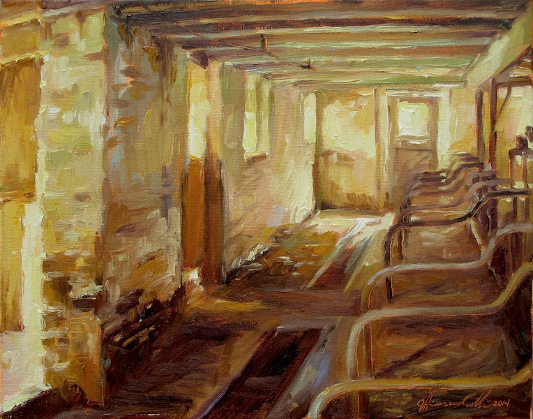 INTERIOR NO. 11 by Jennifer Hansen Rolli - 11 x 14 in., o/c • $2,800