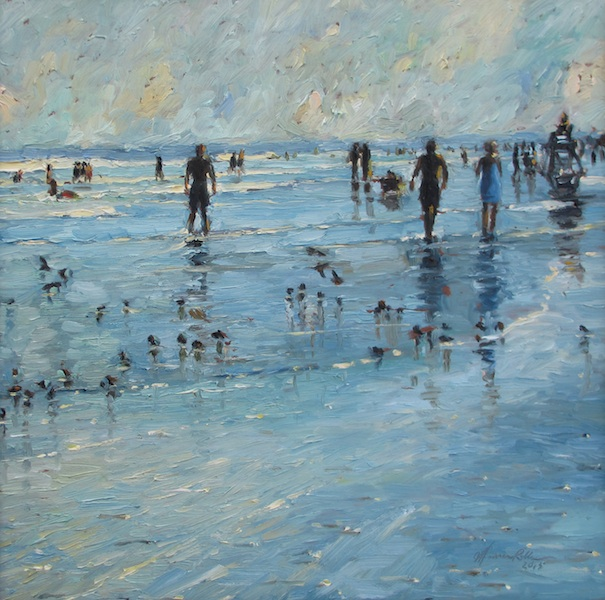 Remember a perfect day at the shore with LATE DAY HAZE by Jennifer Hansen Rolli - 15 in. sq., o/b • $3,200