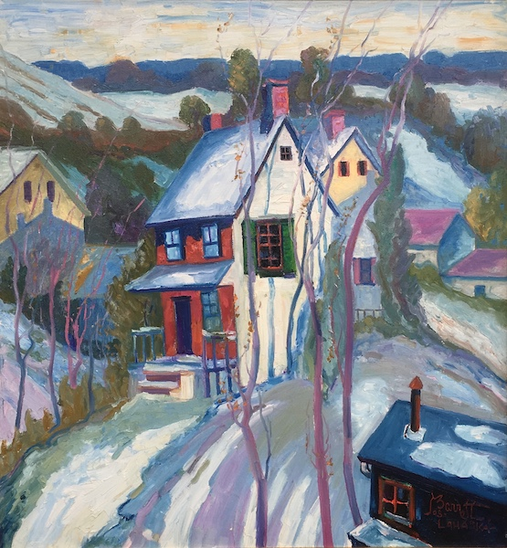 COTTAGE by Joseph Barrett - 28 x 26 in., o/c • $8,000
