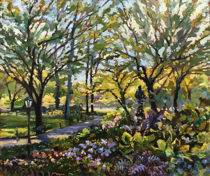 Just arrived:  EARLY AUTUMN, CENTRAL PARK by Jennifer Hansen Rolli - 20 x 24 in, o/c • $6,000