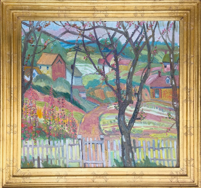 GARDEN GATE by Joseph Barrett - 26 x 28 in., o/c • $8,000